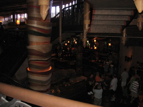 View of Boma restaurant during our recon mission