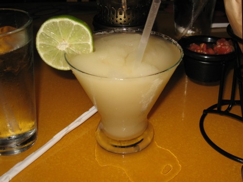 Yummy frozen lime margarita
