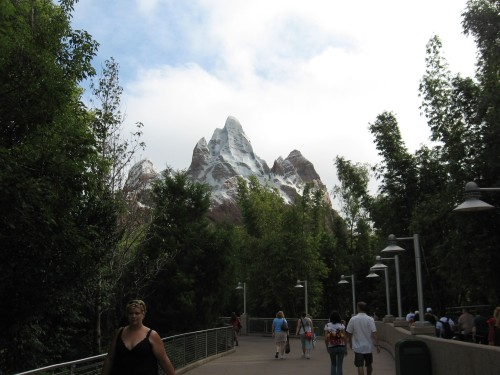 That's Expedition Everest in the background