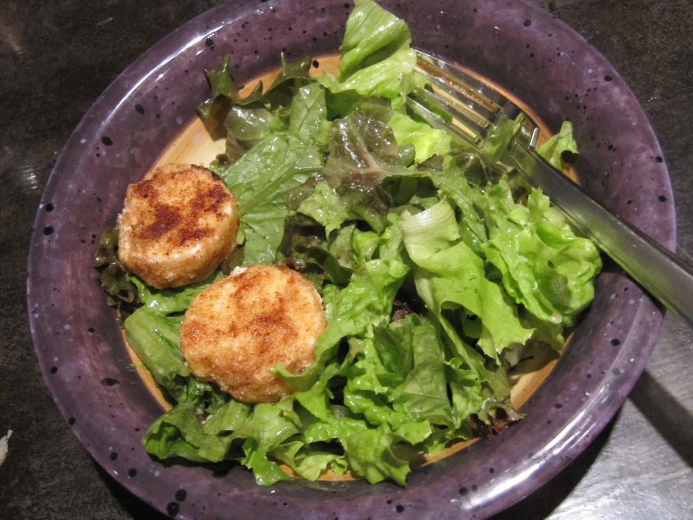 Cooking update: Salad with Warm Goat Cheese