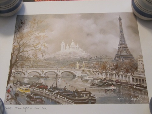 Print of the Eiffel Tower and Sacre Coeur