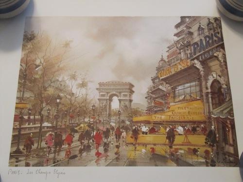 Print of the Arc de Triopmhe