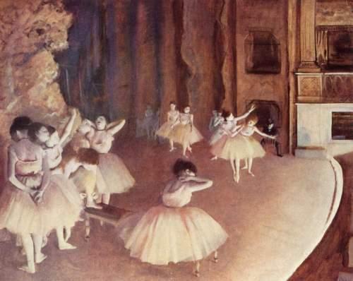 Degas - Repetition d'un ballet sur scene