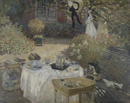 Monet - Le Dejeuner Panneau Decoratif