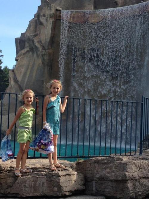 Sienna and Maddie at Victoria Falls at Wonderland!