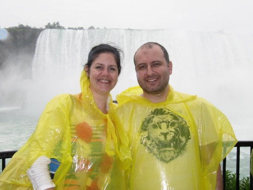 Chris and I at the Journey Behind the Falls