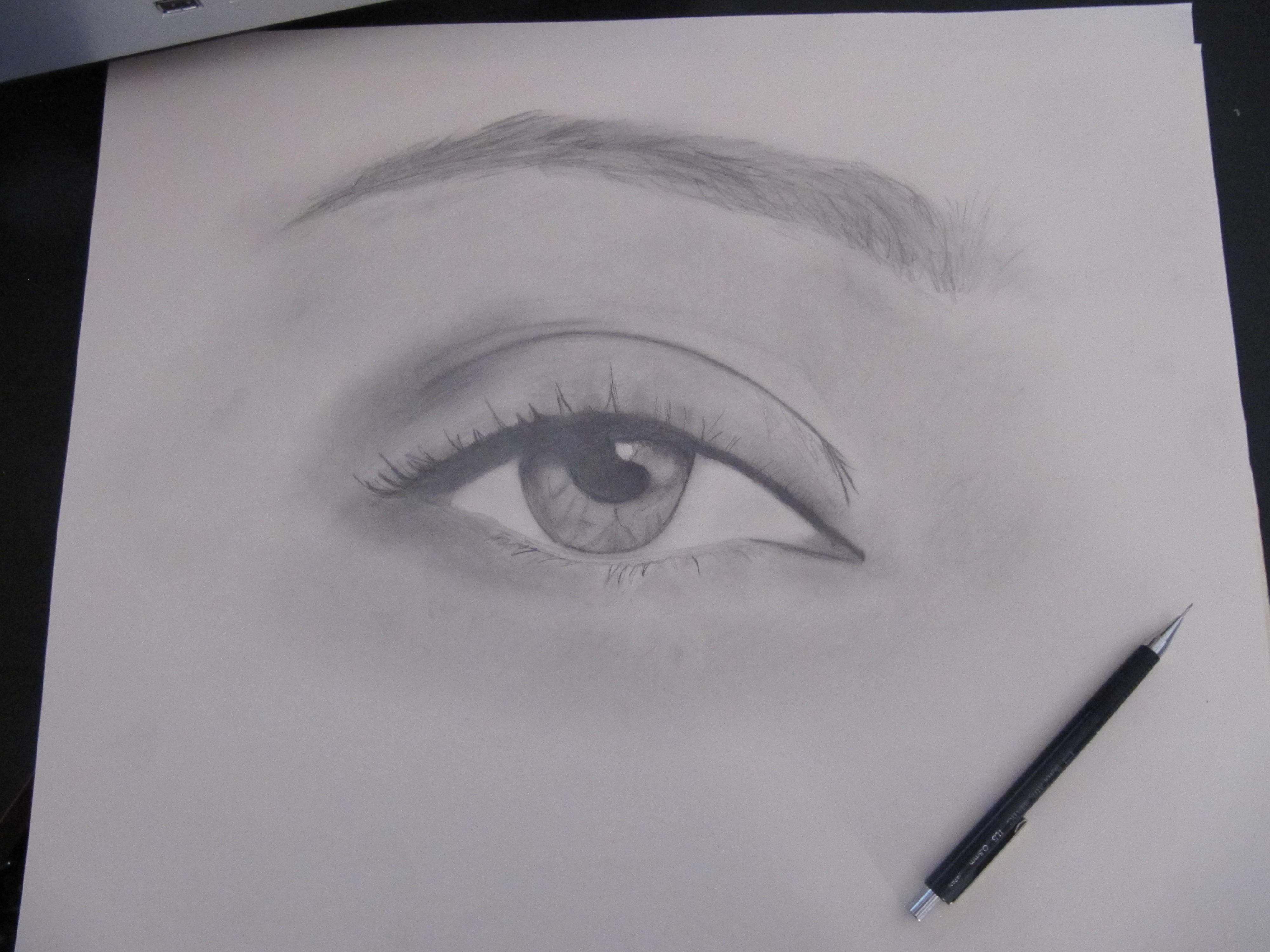 drawing 2 female eye val city gal
