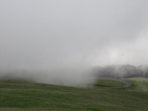 And the drive down through the clouds... :)
