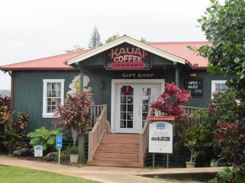 Kauai Coffee plantation where we enjoyed free samples and took a tour of the grounds