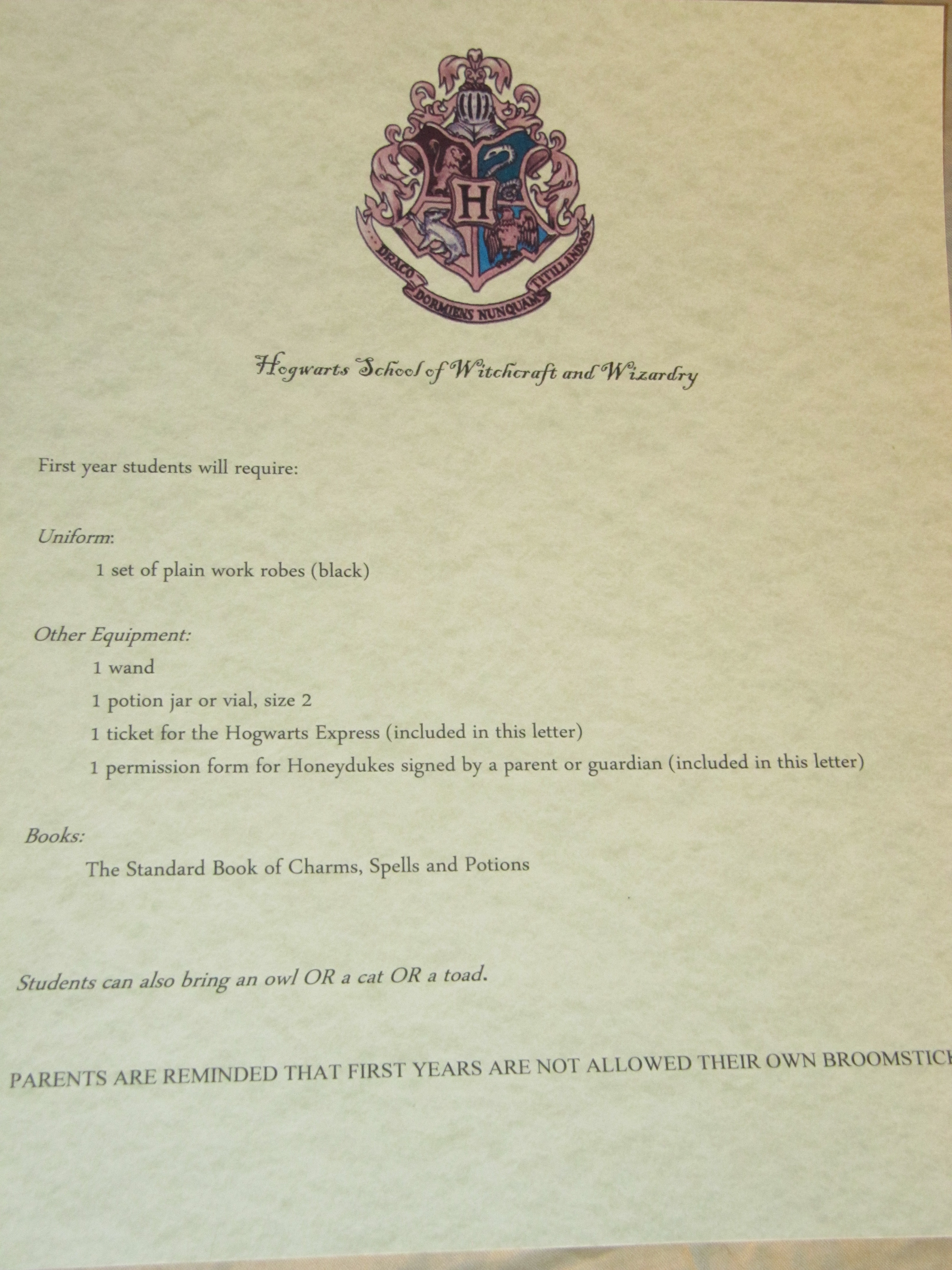 Harry Potter Party Planning Part 1 Invitations