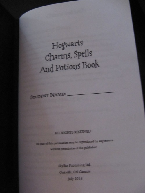 harry potter spells and meanings pdf