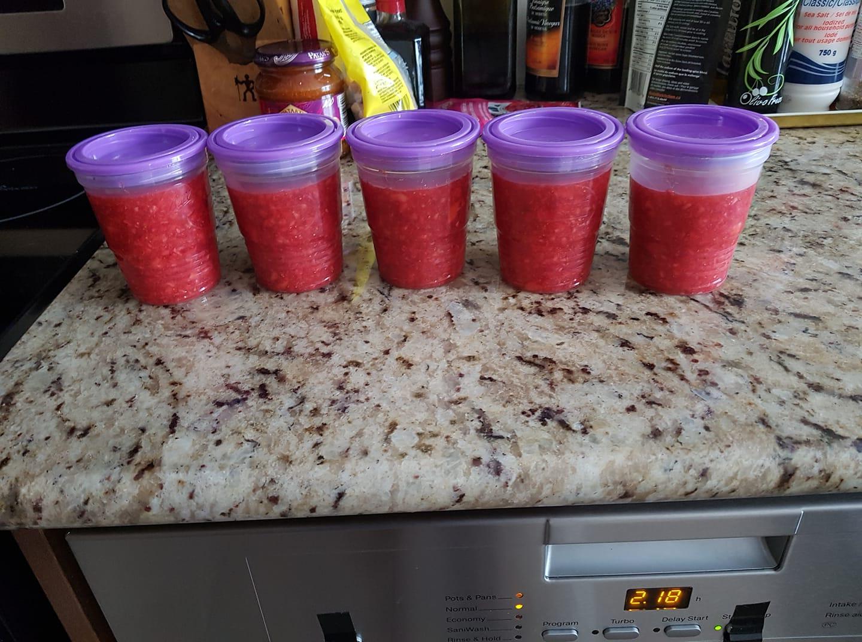 Freezer jam - strawberry